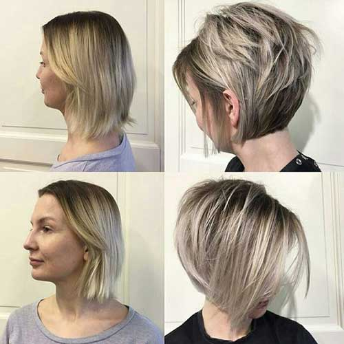 Chic Short Ash Blonde Hairstyles-20