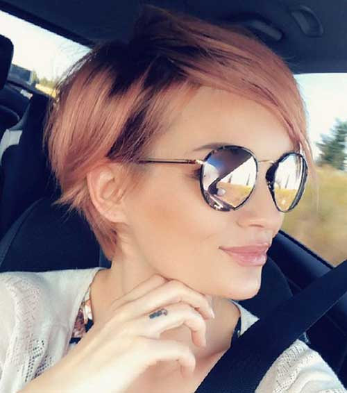 Cute Short Hairstyles for Thin Hair-21