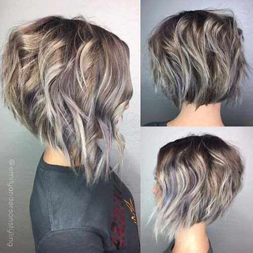 Inverted Short Haircuts for Wavy Hair-22
