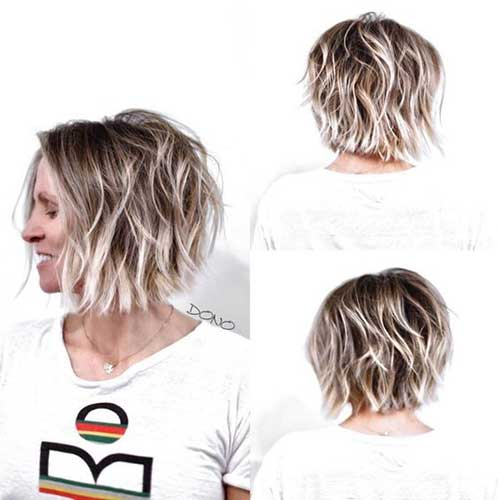 Short Haircuts for Wavy Bronde Hair-24