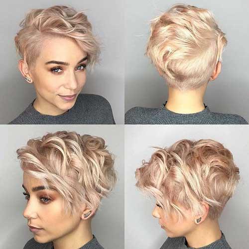 Süße Frisuren für kurzes lockiges Haar