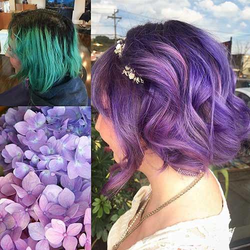 Süße Haarfarben für kurzes Haar