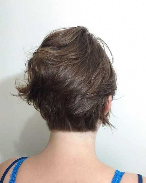 Short Pixie Cut Back View