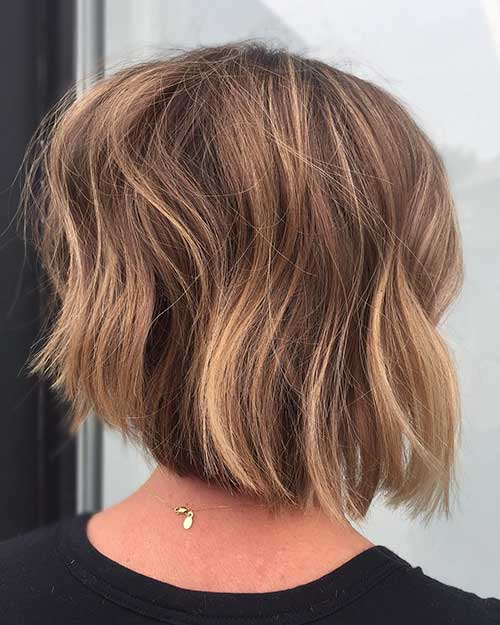 Short Layered Bob Back View