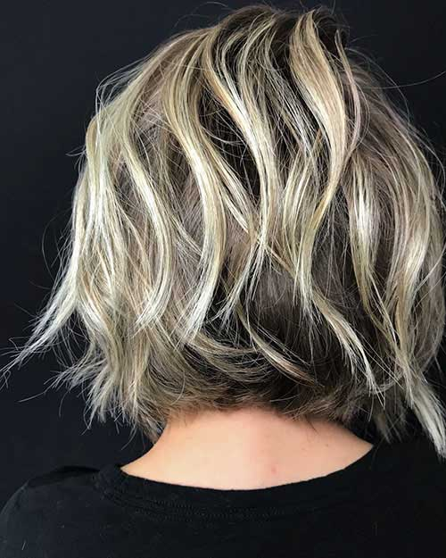 Back View Of Short Layered Bob Hairstyles