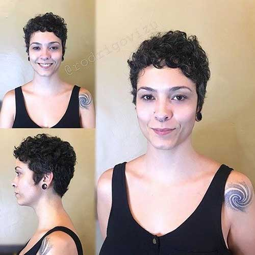 Cute Very Short Curly Hairstyles-6