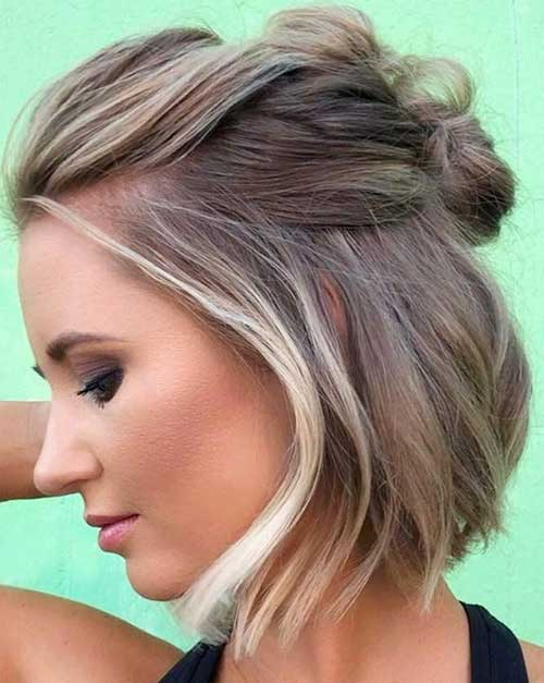 Cute Easy Half Up Hairstyles for Short Hair-6
