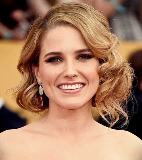 Hollywood Curls Short formal Hairstyles-8