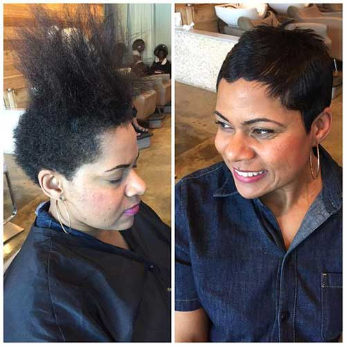 Before and After Pixie Haircuts for Black Women-9