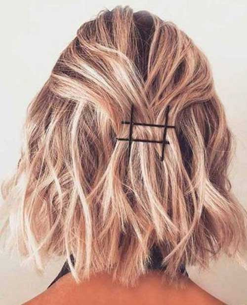 Simple Hairstyles for Short Wavy Hair