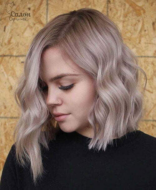 Asymmetrical Short Wavy Hairstyles-16