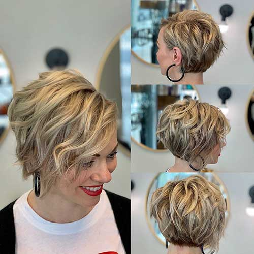 Short Hairstyles For Curly Hair Women 47