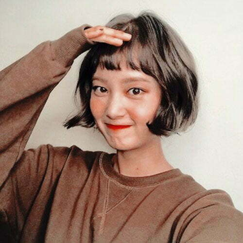 Hairstyles for Short Bob Hair with Bangs-6