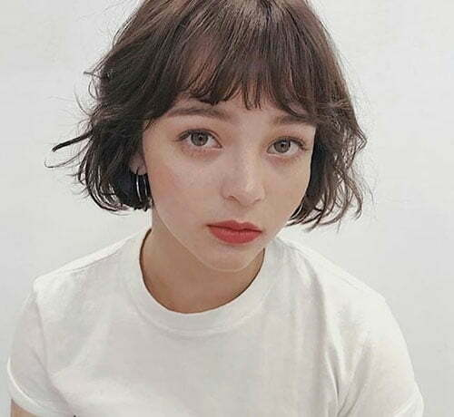 French Bob Hairstyles for Short Hair with Bangs-7