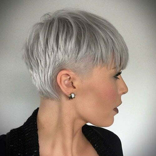 White Pixie Cuts for Fine Hair-7
