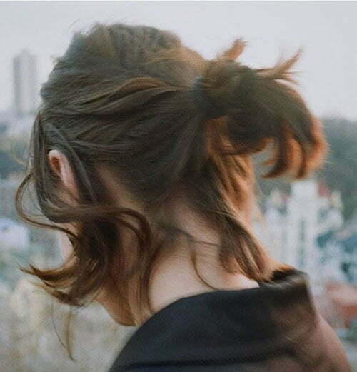 Short Summer Half Up Hairstyles-8