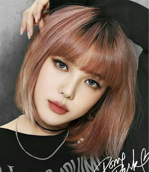 Hairstyles for Short Hair with Full Bangs-8