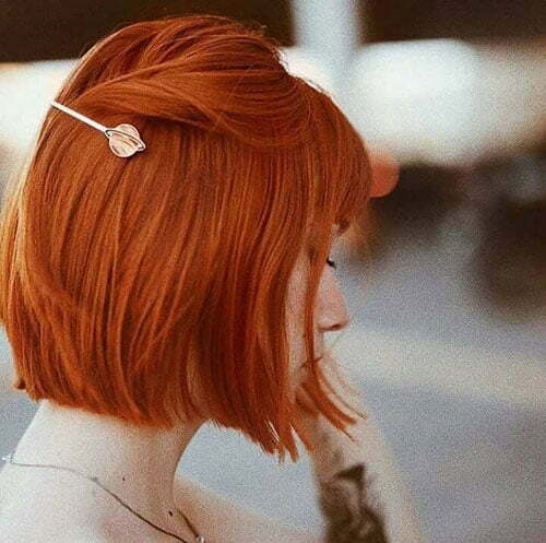 Cute Short Orange Hairstyles for Women