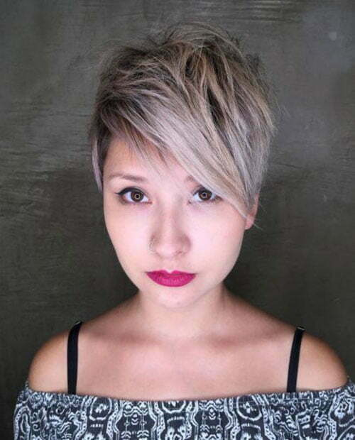 Choppy Long Pixie Cuts for Round Faces-10