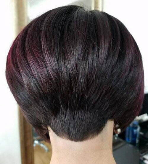 Short Stacked Bob Haircuts Back View-11