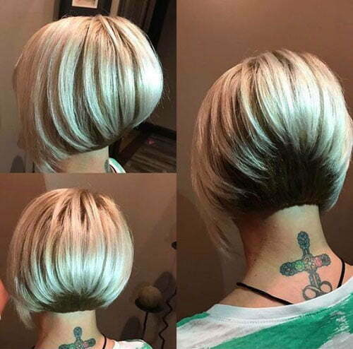 Two Colored Short Stacked Bob Haircuts-12