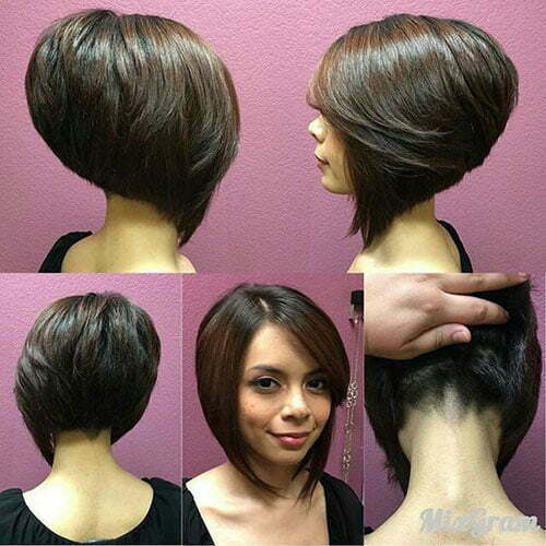Thick Short Stacked Bob Haircuts-13
