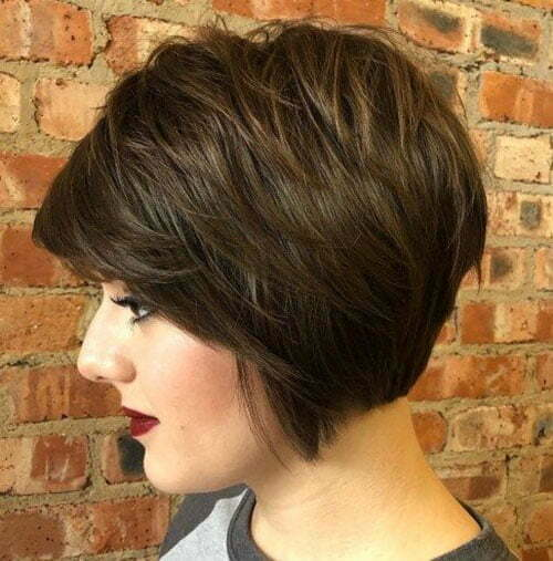 Fine Layers Short Stacked Bob Haircuts-15