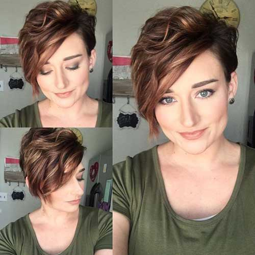 Short and Sassy Side Bangs Haircuts-15