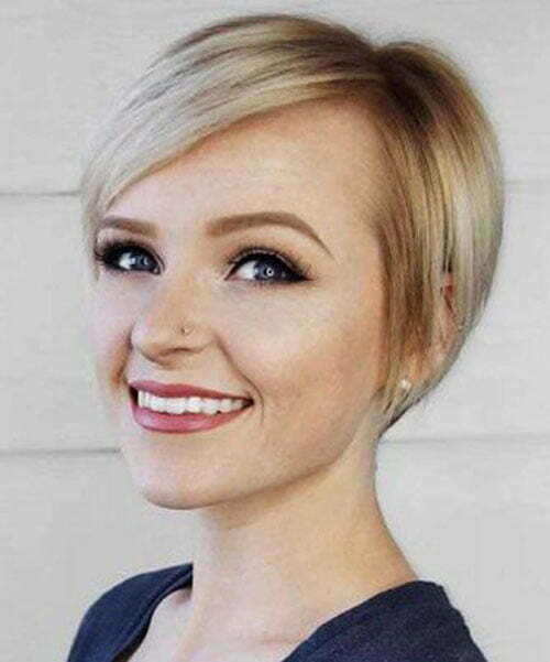 Short Pixie Cuts for Round Faces-19
