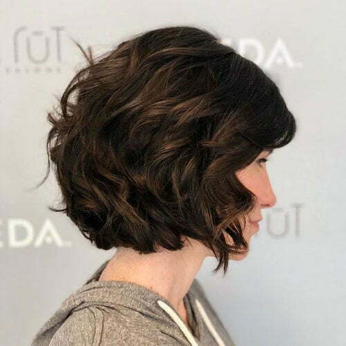 Short Haircuts for Women with Dark Brown Thick Hair-7