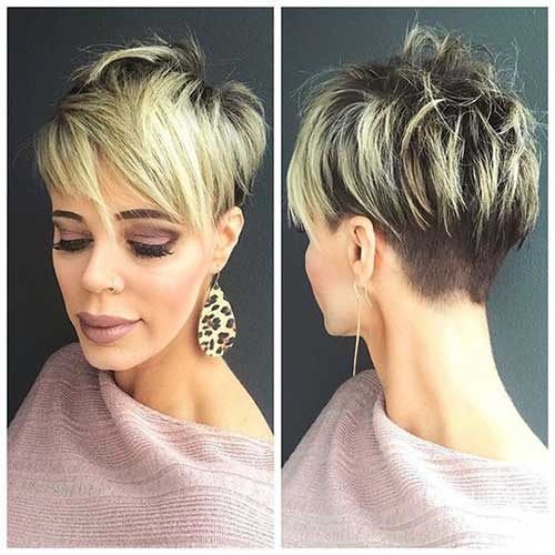 Short and Sassy Haircuts Blonde Balayages-7