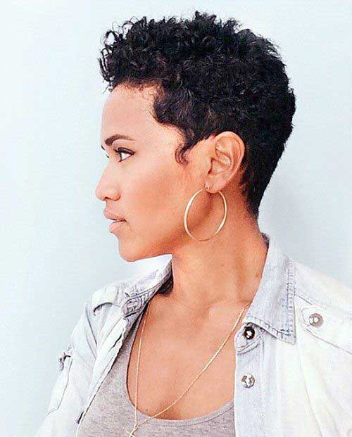 Very Short Natural Curly Hair for African American Women-9