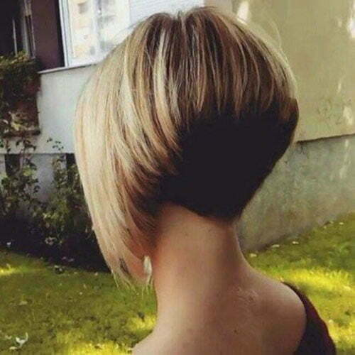 Very Short Stacked Bob