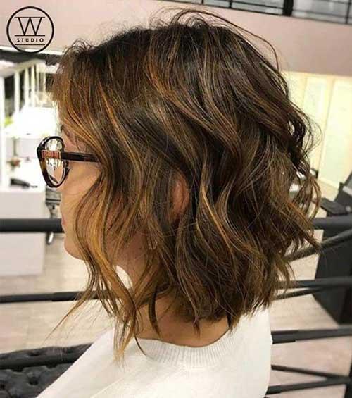 Short Wavy Bob Haircuts