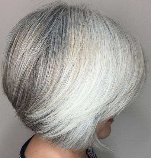 Natural Grey Short Haircuts for Older Ladies-10