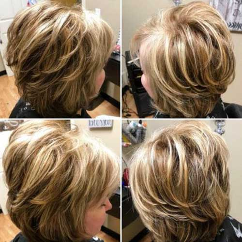 Short Layered Hairstyles For Thick Hair Over