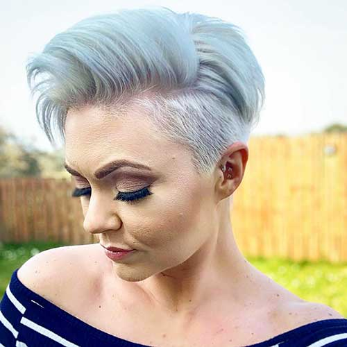 Undercut Hairstyle Women Short Hair