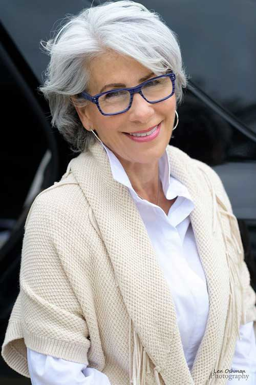 Hairstyles For The Mature Woman With Glasses