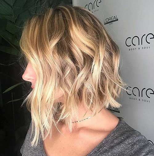 Short Messy Blonde Bob