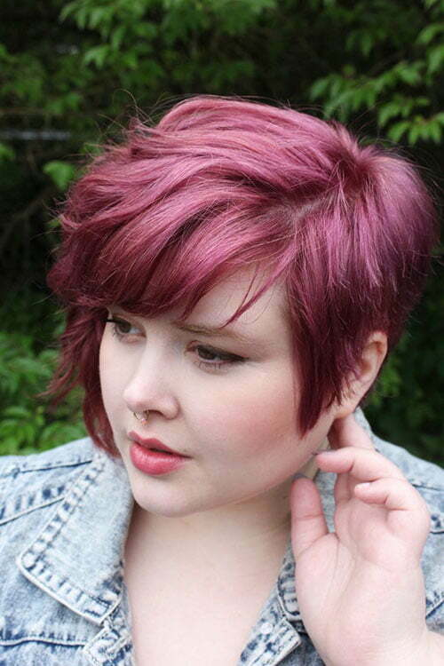 Short Hairstyles On Chubby Faces