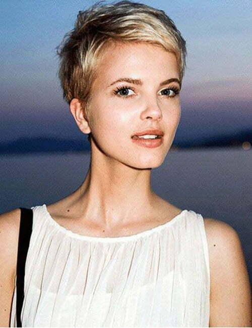 Blonde Hair Pixie Cut