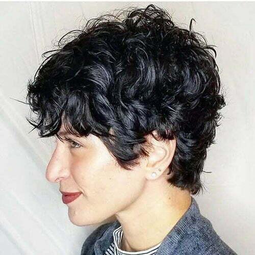Short Curly Pixie Cut