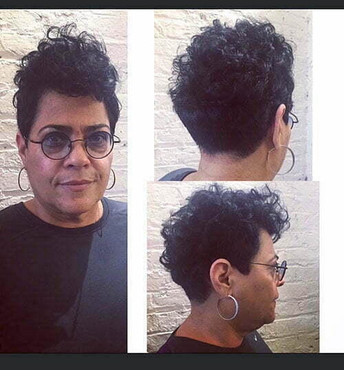 Short Curly Pixie