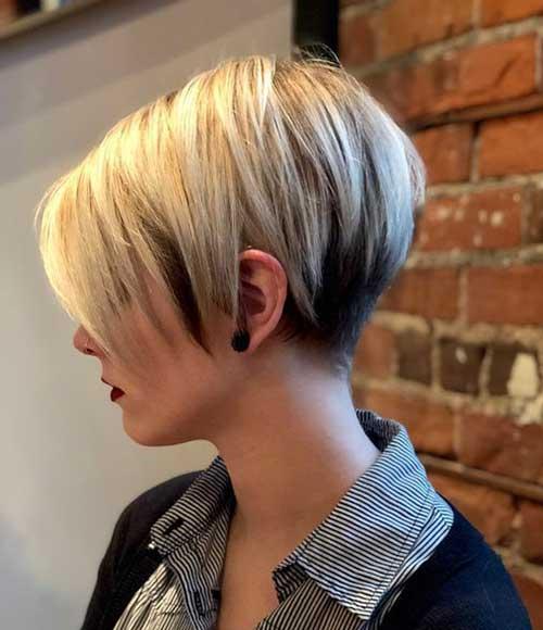 Blonde Pixie Bob Short Haircut