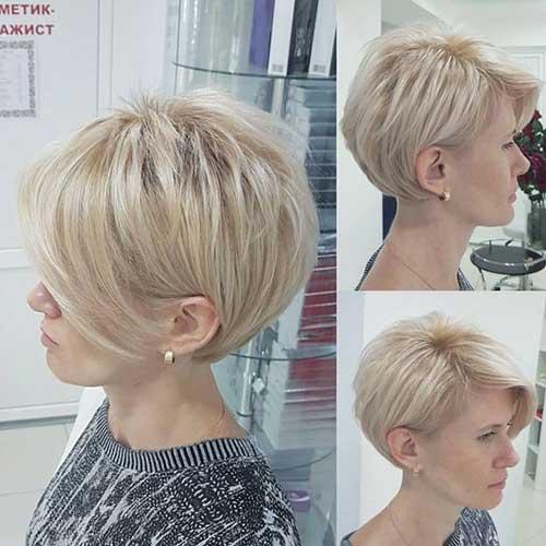 Layered Blonde Short Haircut 2019