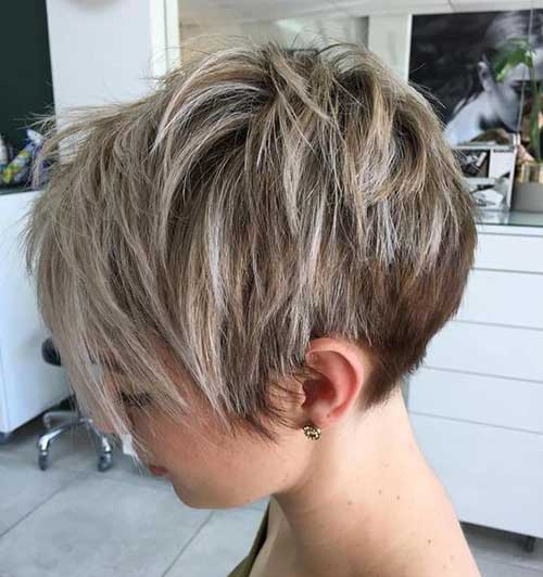 Layered Long Pixie Style 2018