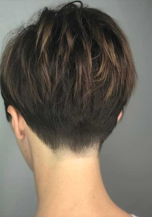 Layered Short Hair Back View