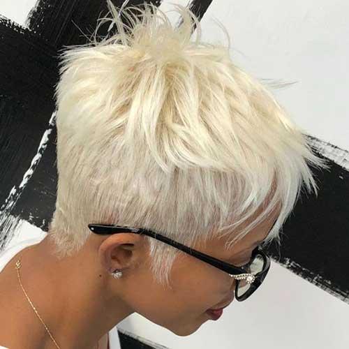 Platinum Blonde Short Haircut 2018