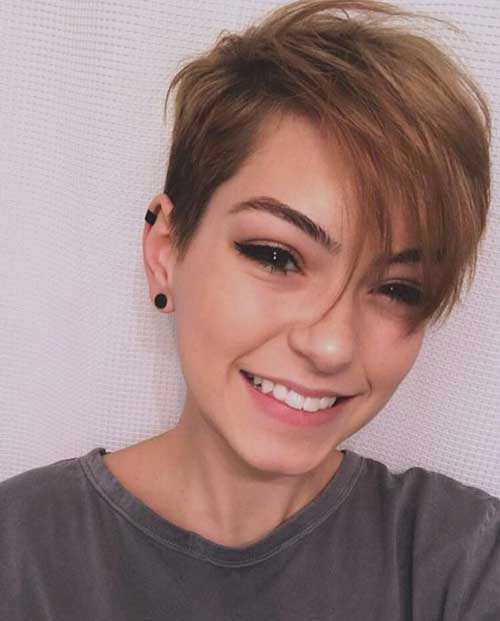 Side Parted Short Haircut 2018