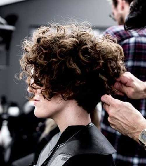 Thick Curly Short Haircut 2018